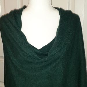 Forest Green Sweater Shawl
